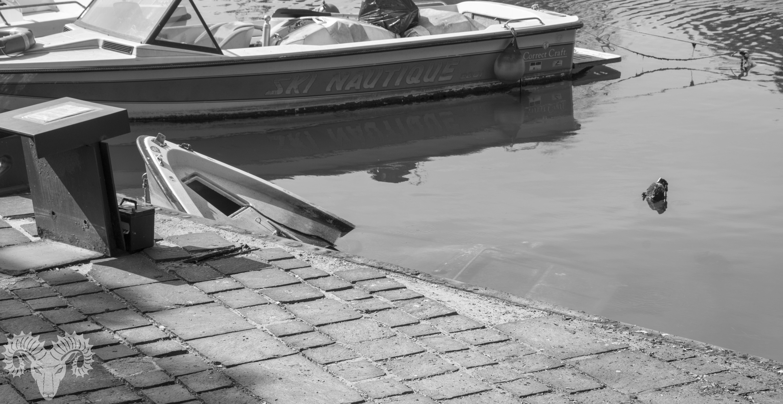Boot auf Tauchgang